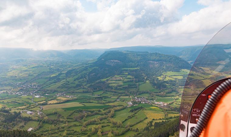 Vue aérienne du Causse Méjean