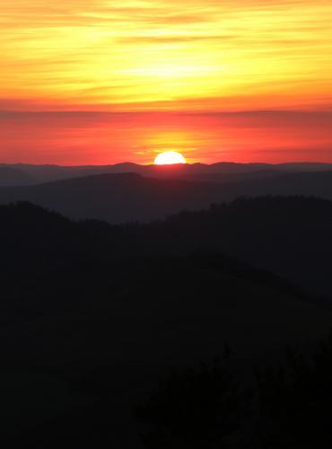 Coucher de soleil sur le Mont-Lozère