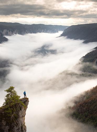 Mer de nuages sur les Gorges du Tarn