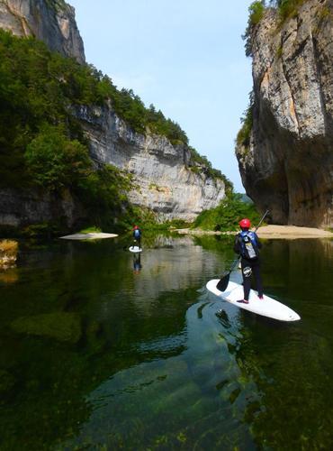 Sortie paddle dans les Gorges du Tarn