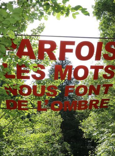 Oeuvre d'art au Vallon du Villaret