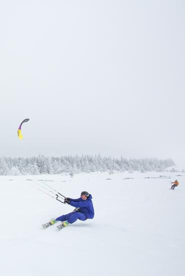 Snowkite en Lozère