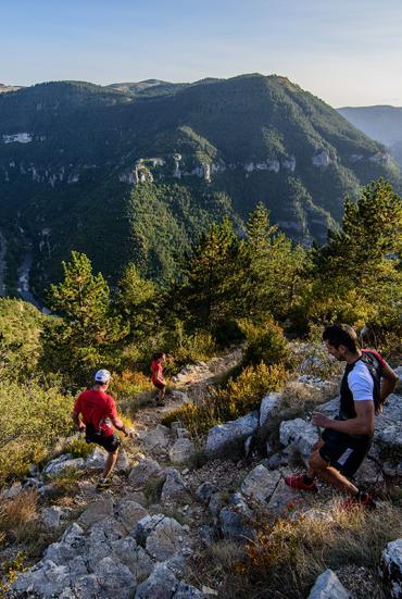 Trail dans les Gorges du Tarn