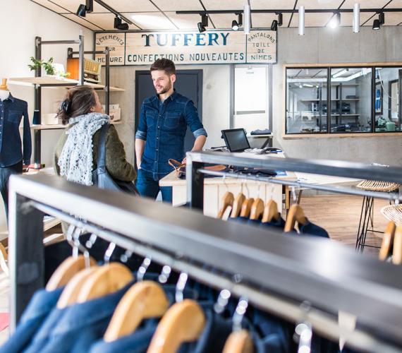Boutique de jeans Tuffery dans les Cévennes