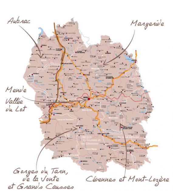 Carte de la Lozère - En un clin d'œil