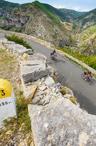 Vélo dans les Gorges